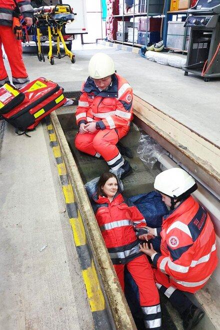 Übung des Katastrophenschutzes der Johanniter-Unfall-Hilfe in Kassel.