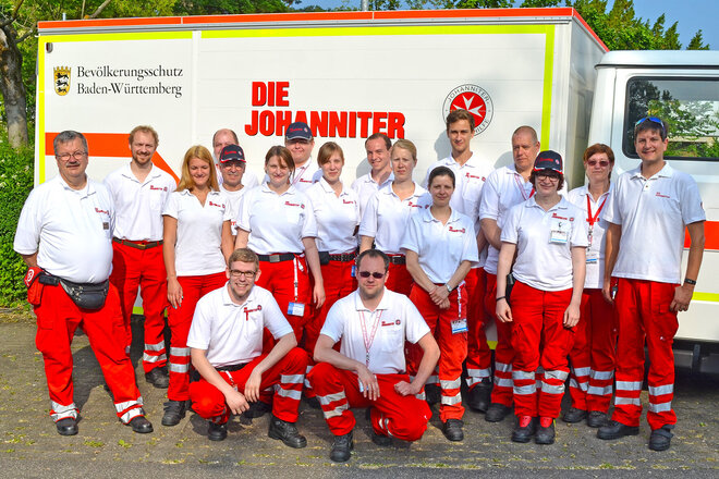 Teamfoto des Katastrophenschutz Stuttgart der Johanniter