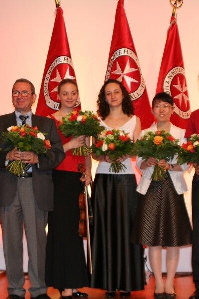 Ehrung der Preisträger auf der Preisverleihung des Hans-Dietrich-Genscher-Preis.