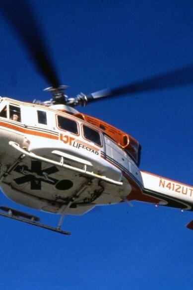 Beim Austauschprogramm mit Knoxville, Tennessee/USA wurde den Luftrettern in den USA bei ihrer Arbeit über die Schulter gesehen.