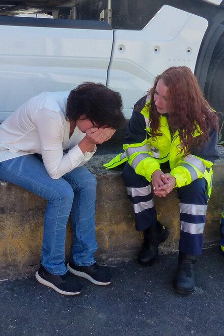 PSNV-Fachkraft Yvonne Wagner kümmert sich in Krisensituationen um die Betroffenen