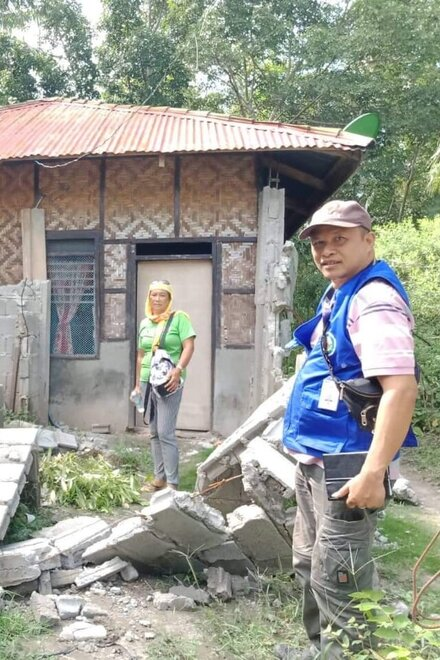 Assessment in the affected region of Mindanao