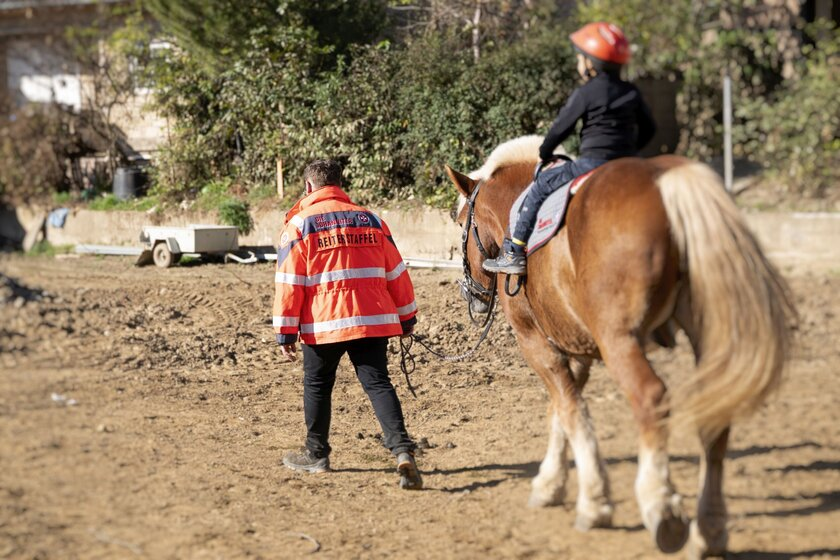 Die Kinder genossen die Zeit mit den Pferden der Johanniter-Reiterstaffel.