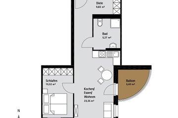 Grundriss Quartier-Johannisthal Wohnung 1