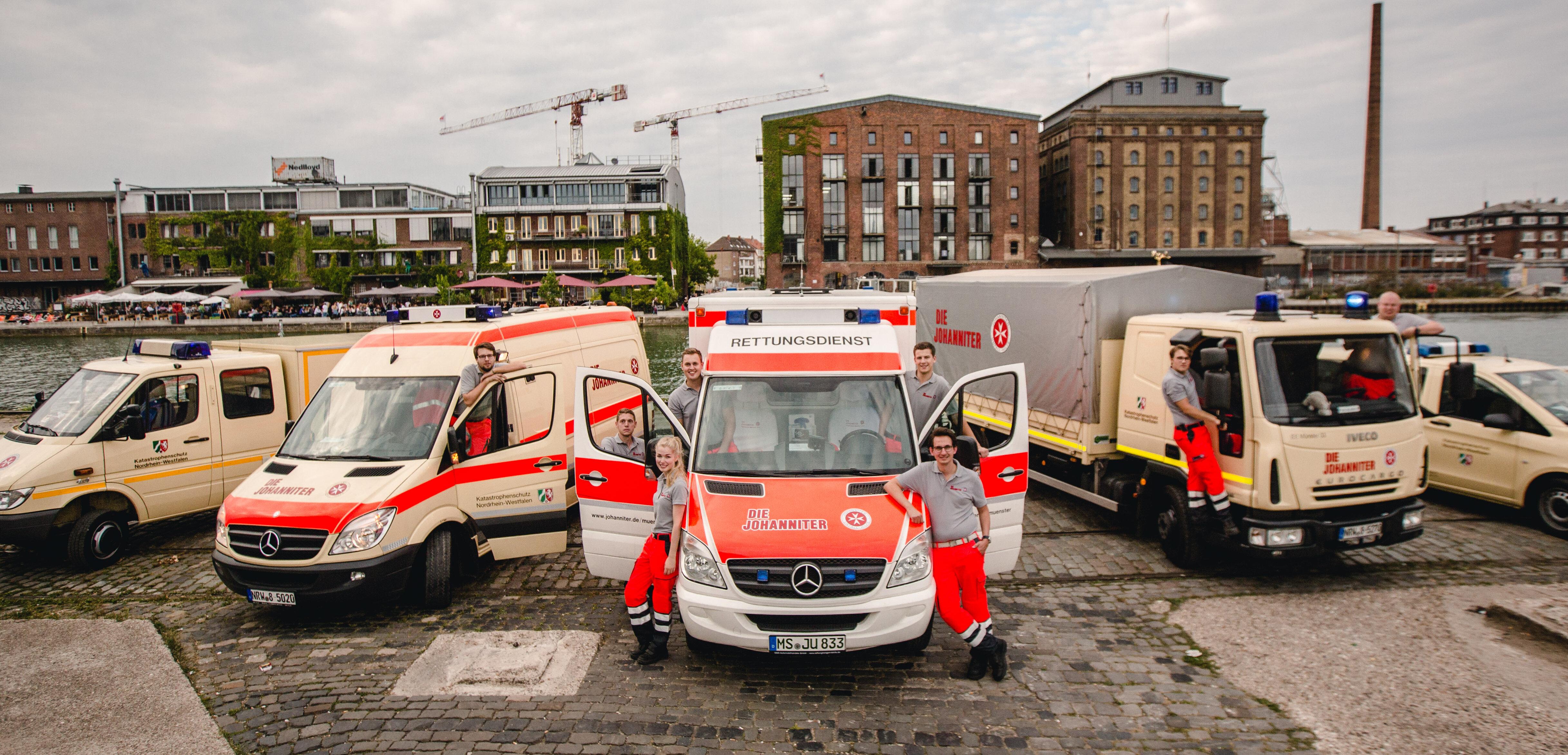 Unsere ehrenamtlichen Helferinnen und Helfer am Hafen von Münster