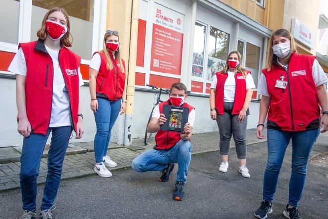 Das Team der Johanniter-Fördermitgliederwerbung in Freiburg.
