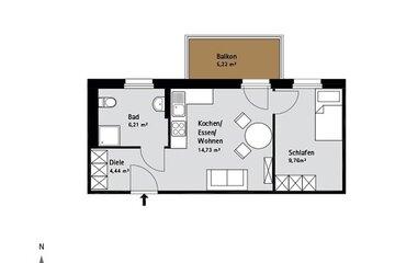 Grundriss Quartier-Johannisthal Wohnung 9