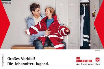 Ein Werbeplakat der Johanniter-Jugend aus dem Jahr 2007.