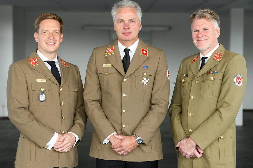 Gruppenbild der drei Mitglieder des Landesvorstandes