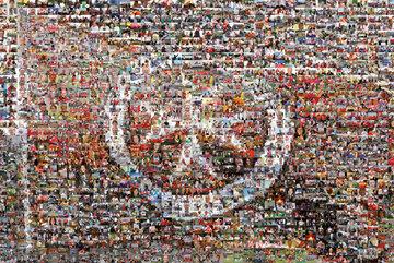 2008 läutet die Johanniter-Unfall-Hilfe einen Strategieprozess ein. Ein Mosaik aus Fotos ist das begleitende Motiv.