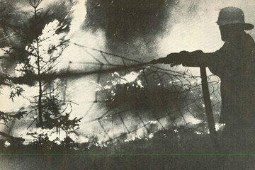 1976 brennt in Niedersachsen die Heide.