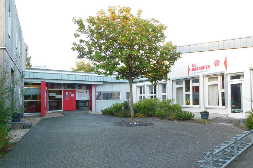 Gebäude der Johanniter-Kindertagesstätte Erkelenz von vorne