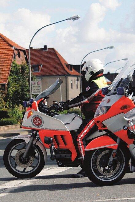 Schnelle Hilfe vor Ort - Die Johanniter-Motorradstaffel