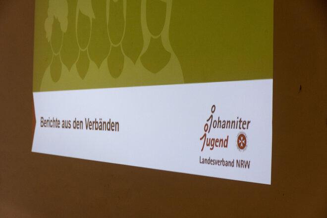 Bild einer Präsentation auf einer Leinwand