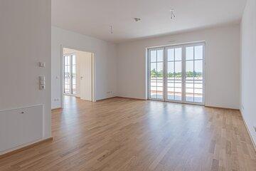Hell und großzügig gestaltete Wohnungen der Johanniter-Wohnanlage in Bad Wörishofen.