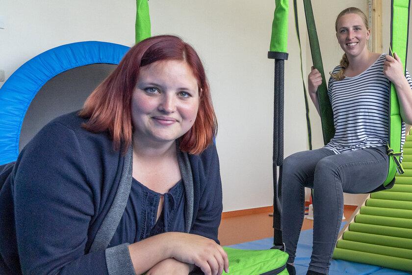 Unser Team der Praxis für Ergotherapie und Logopädie: Franzsika Dzaack, Marike Werner und Lotta Holsten (v.l.)