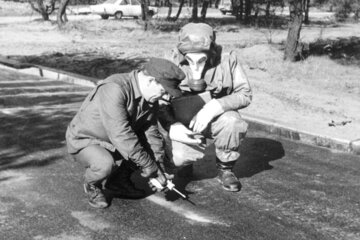 Johanniter im Katastrophenschutz im Jahr 1968.