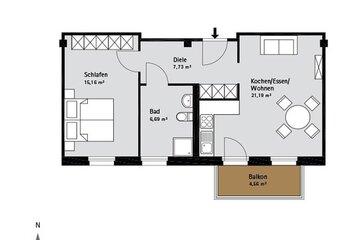 Grundriss Quartier-Johannisthal Wohnung 8