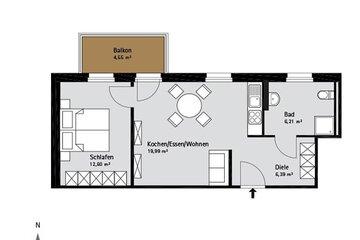 Grundriss Quartier-Johannisthal Wohnung 5