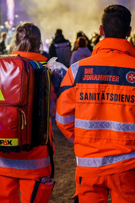 Sanitäter der Johanniter sorgen beim Deichbrand Festival 2019 für Sicherheit.