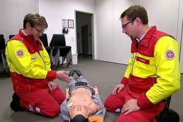"""Dreh der RTL-Sendung """"Undercover Boss"""" bei der Johanniter-Unfall-Hilfe."""