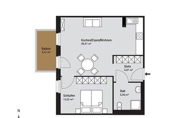 Grundriss Quartier-Johannisthal Wohnung 3