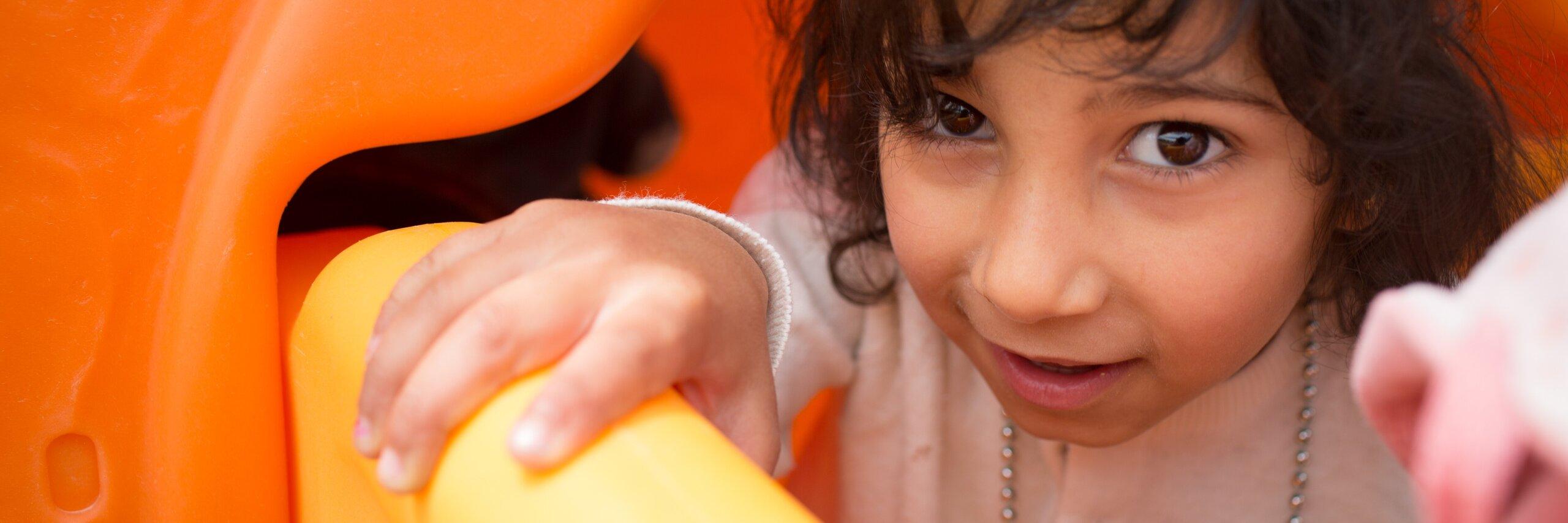 Refugee child in Jordan