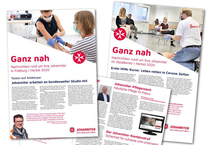 Titelblätter der Johanniter-Zeitschrift Ganz nah.