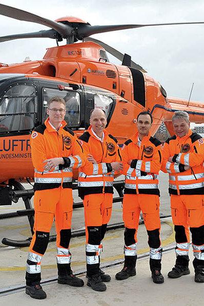 Der in Hannover stationierte Rettungshubschrauber Christoph 4 und sein Team.