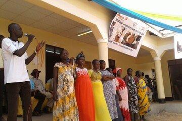 Feierliche Eröffnung der Geburtenstation in Kangi, Südsudan.