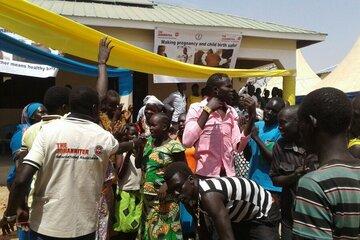 Feierliche Eröffnung der Geburtenstation in Kangi im Südsudan.