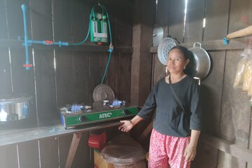 Ora Chantha in ihrer Küche