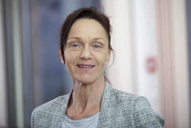 Frau Lübben ist die Einrichtungsleiterin im Hospizhaus Heidekreis