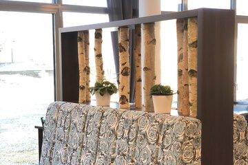 Sitzbank im Restaurant des Johanniter-Seniorenzentrum Hermaringen