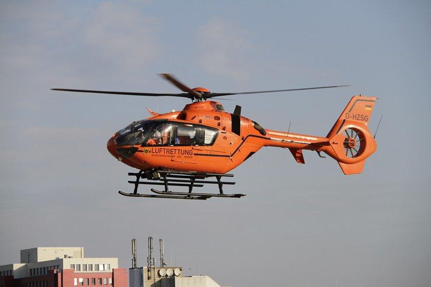 Die Einsatzzahlen des Rettungshubschraubers Christoph 4 sind während der Corona-Pandemie gesunken.