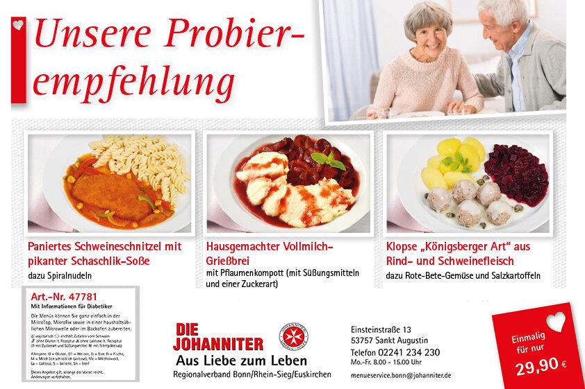 Probierpaket (Art.-Nr. 47781) mit sieben Menüs und einer Suppe